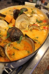 Paleo Thai Seafood Stew with Sweet Potato, Basil and Lime